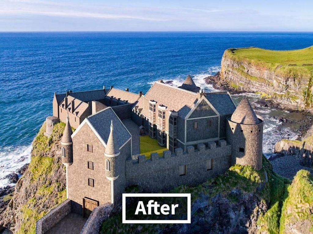 Kastil ini telah menjadi situs arkeologi yang berharga dan menjadi destinasi wisata di ujung utara Irlandia Utara. Istimewa/Boredpanda/onstride.co.uk.