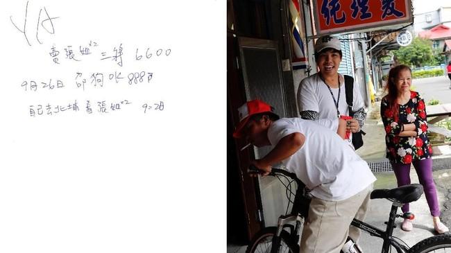 """""""Saya memakai buku catatan untuk mengingat orang yang saya tolong hari ini, berapa kebun yang saya kejakan, apakah hujan, buku catatan ini adalah ingatan saya,"""" kata Chen yang tinggal bersama ibu tirinya, Wang Miao-cyong. (REUTERS/Tyrone Siu)"""
