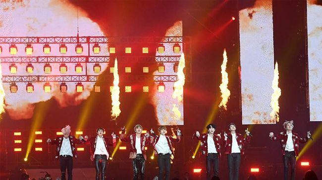 Konser BTS Gaet 320 Ribu Orang di AS