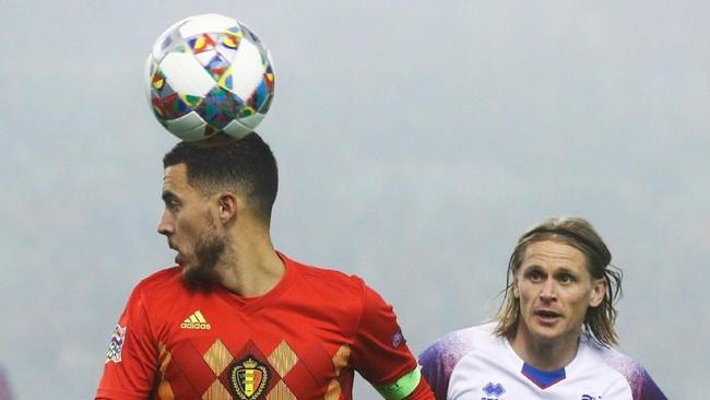 Di Brussels, Eden Hazard memimpin rekan-rekannya menghadapi Islandia dalam lanjutan laga grup 1 Liga A UEFA Nations League. (REUTERS/Francois Lenoir)
