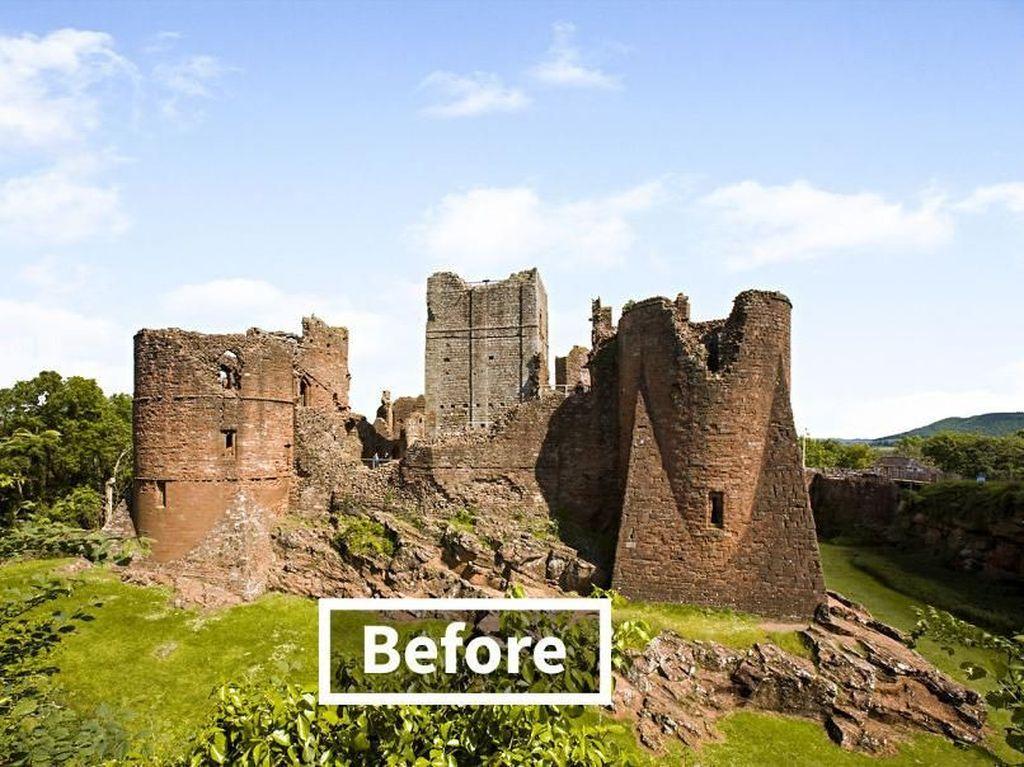 Penampakan kastil Goodrich yang sudah berdiri sejak tahun 1102. Istimewa/Boredpanda/onstride.co.uk.