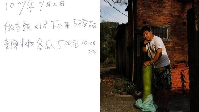 Pria 26 tahun ini kehilangan kemampuannya untuk membuat dan mengingat apapun yang terjadi. Untuk mengabadikan ingatannya, Chen mencatat semua 'ingatannya' dalam sebuah buku tulis bertuliskan tinta biru. (REUTERS/Tyrone Siu)