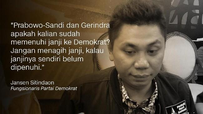 Jansen Sitindaon, Fungsionaris Partai Demokrat.