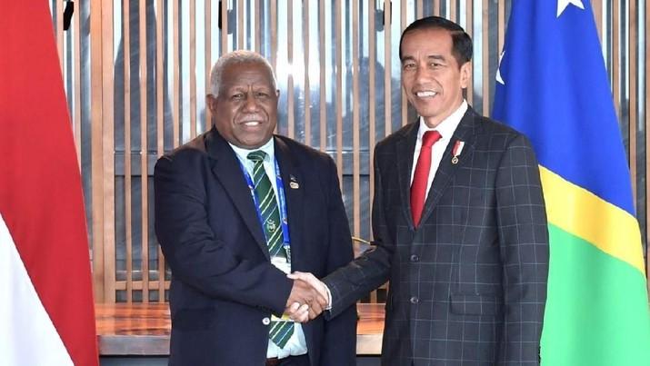 Jokowi Bertemu PM Kepulauan Solomon, Ini yang Dibicarakan