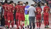 Timnas Indonesia kembali tak mampu meraih gelar Piala AFF 2018. Pada Piala AFF edisi ke-12 tim Merah Putih gagal melangkah dari fase grup. (ANTARA FOTO/Akbar Nugroho Gumay/kye)