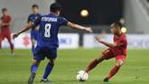 Timnas Indonesia berhasil menyulitkan Thailand di babak pertama lewat kecepatan yang ditunjukkan oleh Riko Simanjuntak dan kawan-kawan. (ANTARA FOTO/Akbar Nugroho Gumay)