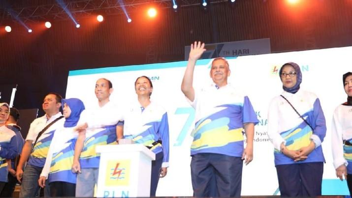 Peringati Hari Listrik Nasional ke-73 tahun, 25 ribu orang pegawai PLN padati JCC dan Gelora Bung Karno, Senayan