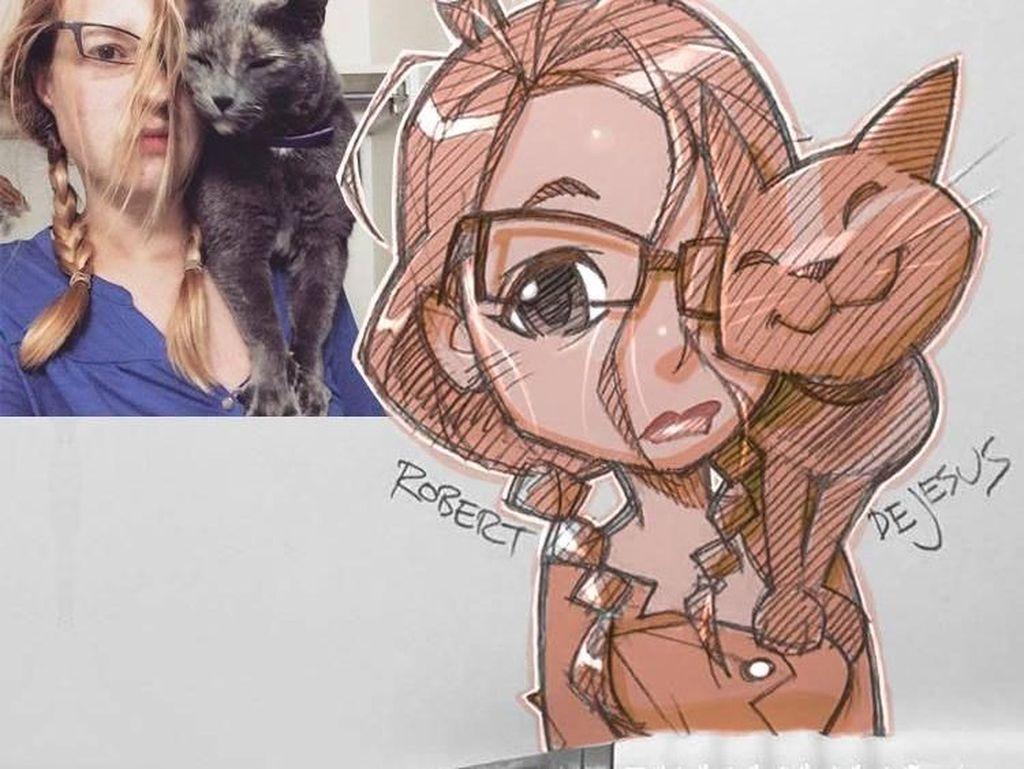 Seniman Ini Ubah Foto Orang Jadi Anime Lucu
