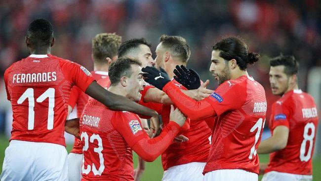 Swiss Taklukkan Belgia 5-2 di UEFA Nations League