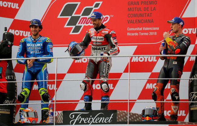 FOTO Dovizioso Menang Di Seri Paling Ekstrem MotoGP Valencia
