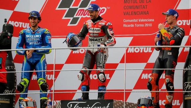 FOTO: Dovizioso Menang di Seri Paling Ekstrem MotoGP Valencia