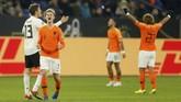 Skor imbang 2-2 membuat timnas Belanda menjadi tim terakhir yang memastikan langkah ke putaran final UEFA Nations League 2019 setelah tuan rumah Portugal, timnas Swiss, dan timnas Inggris. (REUTERS/Leon Kuegeler)