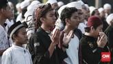 Ustaz Yusuf Mansur menyebut, seluruh kisah Nabi Muhammad dapat dipelajari dan diambil hikmahnya. (CNN Indonesia/Andry Novelino)