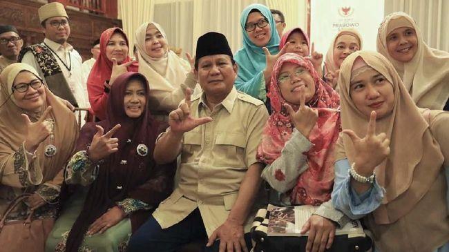 Prabowo Sebut Keselamatan Bangsa Ada di Tangan Emak-emak