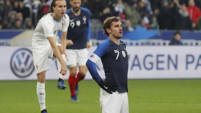 Laga menghadapi timnas Uruguay selalu spesial bagi penyerang timnas Prancis Antoine Griezmann. (REUTERS/Charles Platiau)
