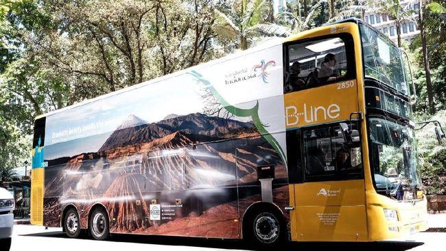 Kemenpar Branding Bus Double Decker di Australia