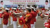Janji setia yang diucapkan relawan berisi pernyataan bahwa relawan Prabowo-Sandi berjanji setia pada Pancasila, Undang-undang Dasar 1945, dan Negara Kesatuan Republik Indonesia. (CNN Indonesia/Adhi Wicaksono).