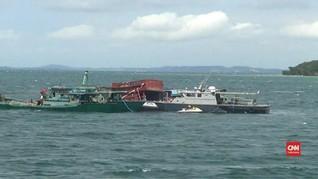 VIDEO: Lima Kapal Ikan Vietnam Ditenggelamkan di Batam