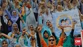 Prabowo mengatakan partai-partai di Koalisi Adil Makmur bukan partai yang memiliki sumber pendanaan berlimpah.Dia meminta pendukungnya memberikan bantuan untuk perjuangan di Pilpres 2019. (CNN Indonesia/Adhi Wicaksono).