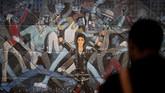 'Who's Bad' adalah titel untuk karya seni dari Faith Ringgold ini, menampilkan Michael Jackson dalam kostum kebanggann. (REUTERS/Benoit Tessier)
