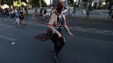 Pawai mereka berakhir di Plaza Los Heroes. (Reuters/Ivan Alvarado)