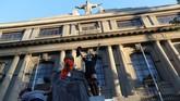 Unjuk rasa di Chile sendiri dimulai di dekat Istana Kepresidenan. (Reuters/Ivan Alvarado)