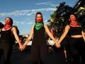 FOTO: Demo Warga Chile Tolak Kekerasan terhadap Perempuan