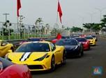 Ketika Pemilik Ferrari Berkumpul Adu Kecepatan di Tangsel