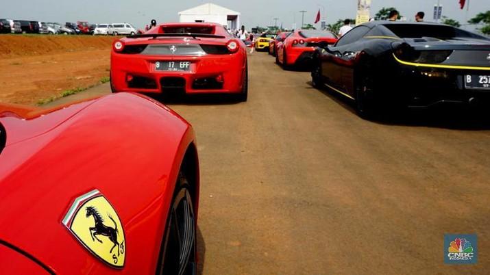 Populasi Ferrari di Indonesia mencapai sekitar 500 unit.