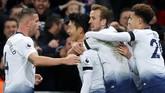 Kemenangan ini membuat Tottenham Hotspur naik ke posisi ketiga dengan nilai 30 poin, melewati Chelsea yang masih mengumpulkkan 28 poin. (Reuters/Matthew Childs)