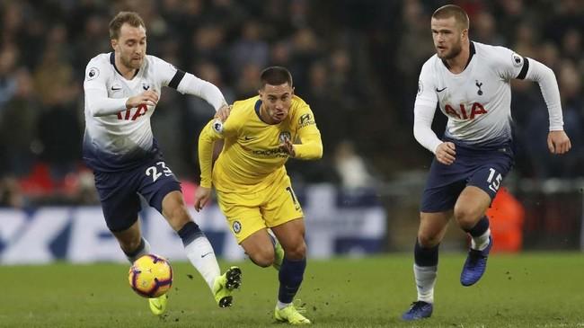 Derby London terjadi pada laga Liga Inggris pekan ini. Tottenham Hotspur menjamu Chelsea di Stadion Wembley. (Reuters/Matthew Childs)