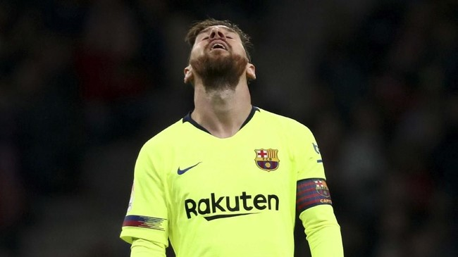 Barcelona harus puas dengan raihan satu angka dalam lawatan ke markas Atletico Madrid. (REUTERS/Sergio Perez)