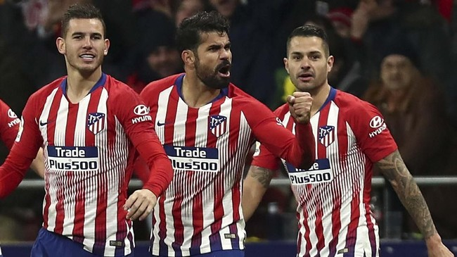 Atletico Madrid gagal melewati torehan poin Barcelona dan kini masih tertinggal satu angka dari sang rival. (REUTERS/Sergio Perez)