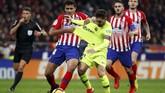 Atletico Madrid menjamu Barcelona dalam laga pekan ke-13 Liga Spanyol di Wanda Metropolitano.(REUTERS/Paul Hanna)