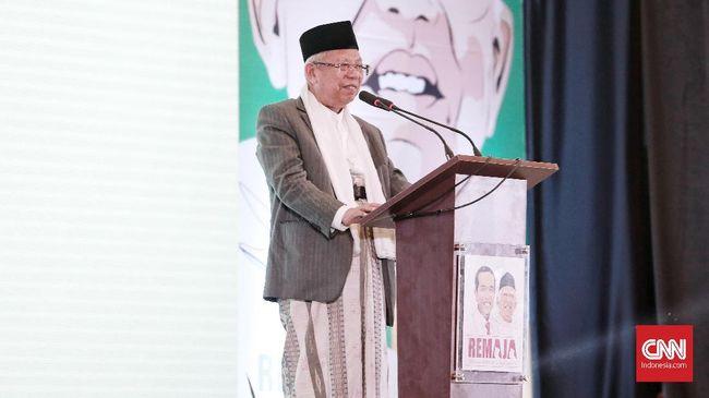 Ma'ruf Amin Janjikan Program 'Gus Iwan' untuk Santri