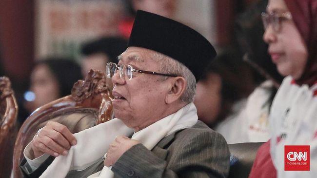 Ma'ruf Amin Sindir Prabowo: Saya dengan Media Berteman