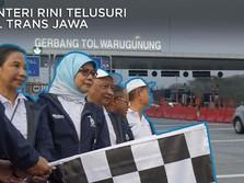 Video: Menteri Rini Menelusuri Tol Trans Jawa