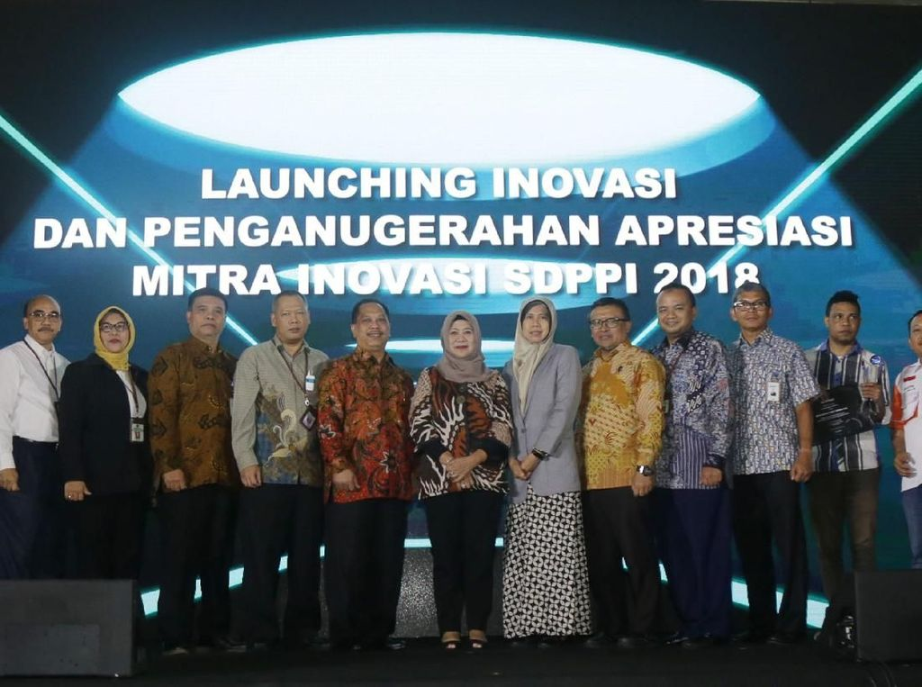 Direktur Jenderal Summer Data dan Perangkat Pos dan Informatika (SDPPI) Kementerian Komunikasi dan Informatika Ismail memberikan sambutan saat Launching dan Penganugerahan Apresiasi Mitra Inovasi SDPPI Tahun 2018 di Hotel Arya Duta, Jakarta, Senin (26/11). Istimewa.