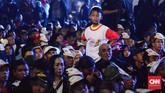 Kegiatan Jokowi Lantik7.000 Jokowiitu digelar di sebuah gudang kosong berukuran 6.000 meter persegi di kawasan pergudangan Olympic Bogorindo, Sentul, Kabupaten Bogor, Jawa Barat. (CNN Indonesia/ Harvey Darian)