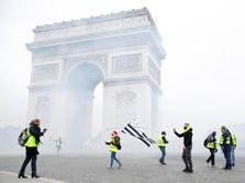 Polisi Prancis & Demonstran Rompi Kuning Bentrok, 107 Ditahan