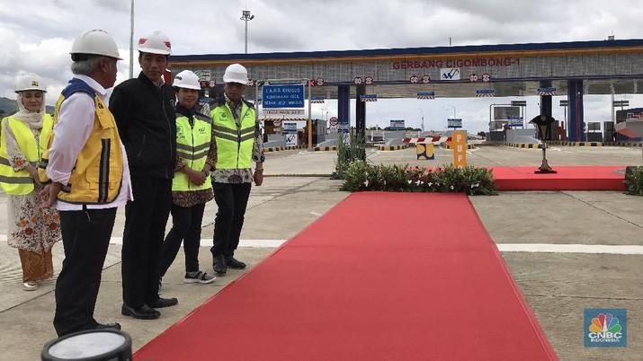 Jokowi berjanji kembali melanjutkan pembangunan infrastruktur transportasi di wilayah Sukabumi