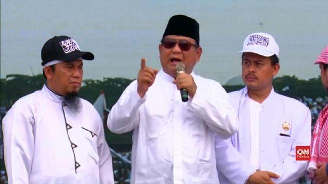 Prabowo Soroti 'Manipulasi' Jumlah Massa Reuni Akbar 212