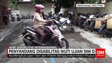 Penyandang Disabilitas Ikuti Ujian SIM D
