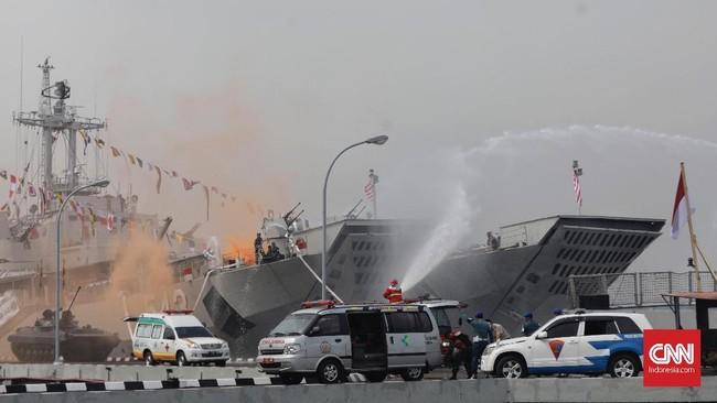 Dengan kekuatan yang ada ini, Armada Rl telah berperan dalam penumpasan berbagai pemberontakan di tanah air. (CNN Indonesia/Adhi Wicaksono)