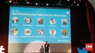 Akun Jokowi & Prabowo Masuk 10 Besar Populer 2018 di Twitter