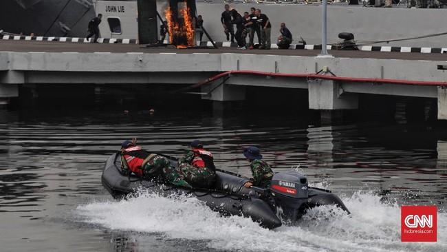 Dalam masa penugasan mempertahankan kemerdekaan Armada Rl telah berhasil melaksanakan berbagai operasi di laut.(CNN Indonesia/Adhi Wicaksono)