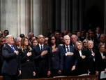 Jabat Tangan Trump & Obama di Pemakaman George HW Bush