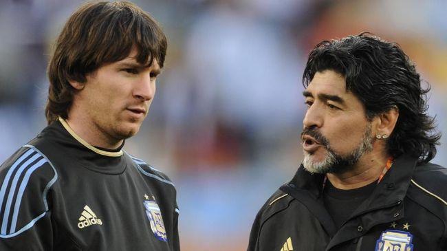 Messi Diklaim Tak Akan Bisa Menyamai Level Maradona