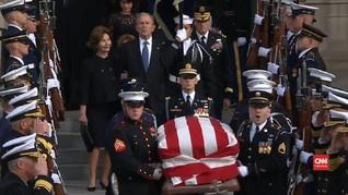 VIDEO: Jelang Pemakaman, Jasad George HW Bush Dibawa ke Texas