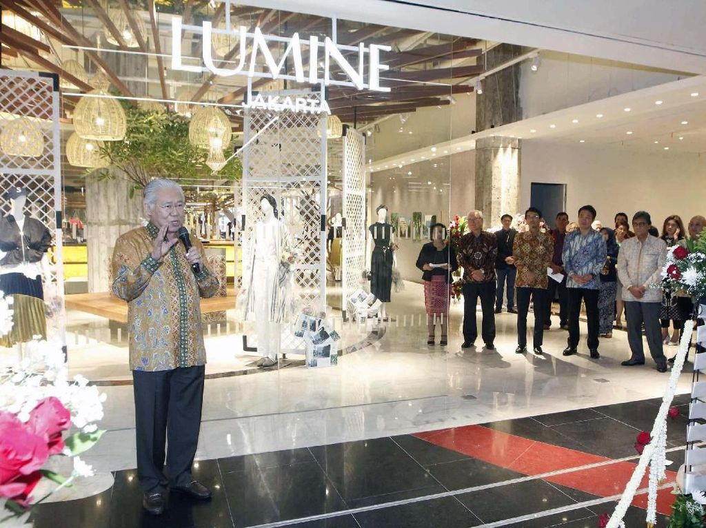 Hadirnya Lumine Jakarta termasuk dalam rangka merayakan 60 tahun hubungan diplomasi antara Jepang dan Indonesia dengan mempromosikan budaya mode kedua negara. Pool/Lumine.